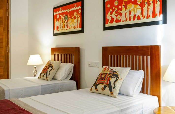 Delux rooms with twin beds